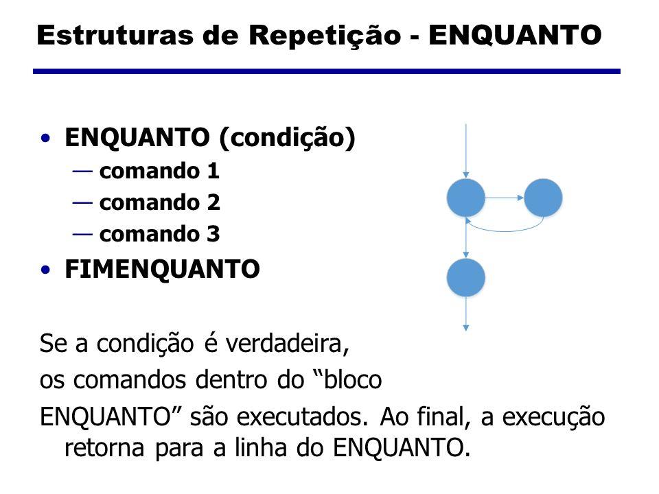 Estruturas de Repetição - ENQUANTO