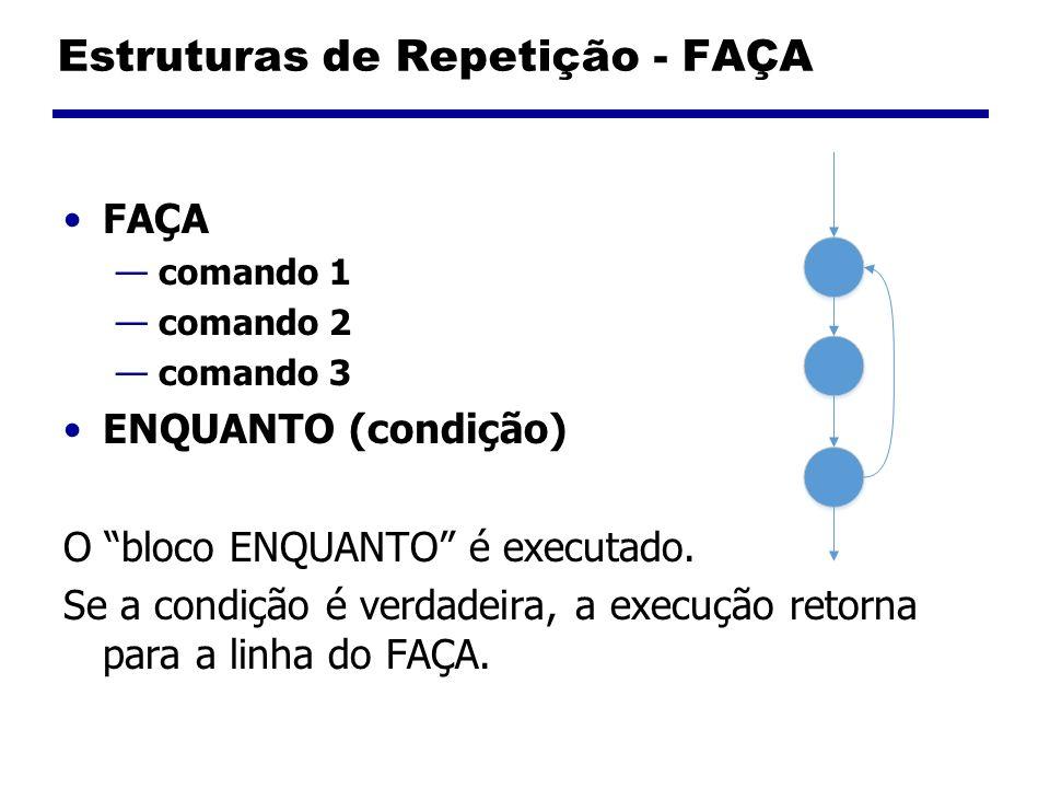 Estruturas de Repetição - FAÇA