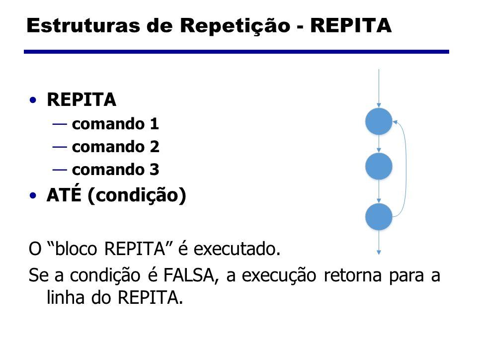 Estruturas de Repetição - REPITA