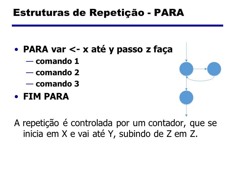 Estruturas de Repetição - PARA