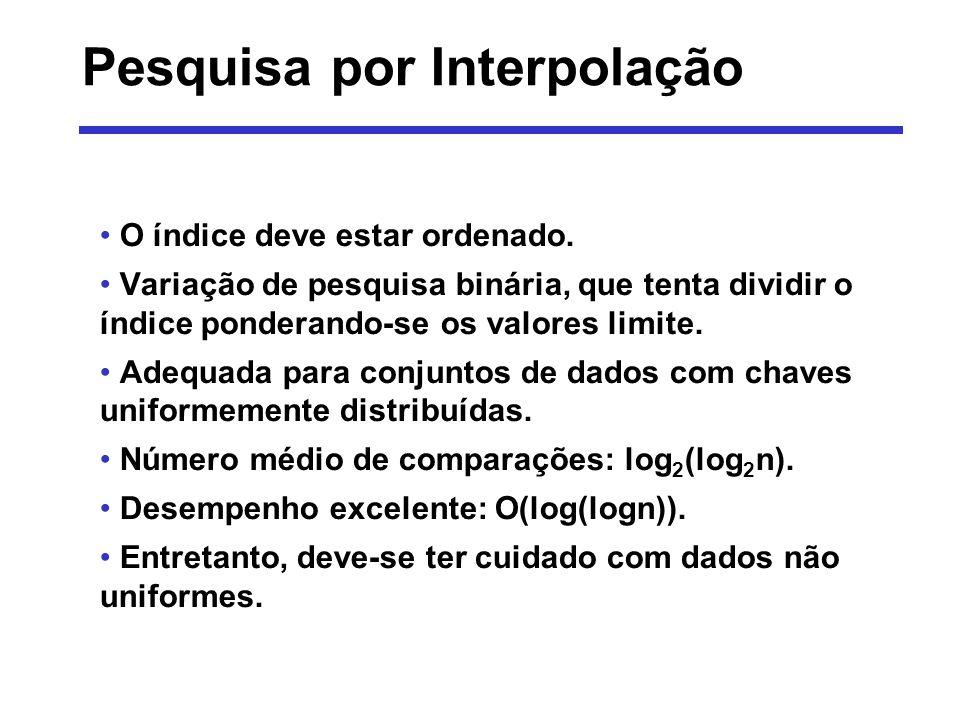 Pesquisa por Interpolação