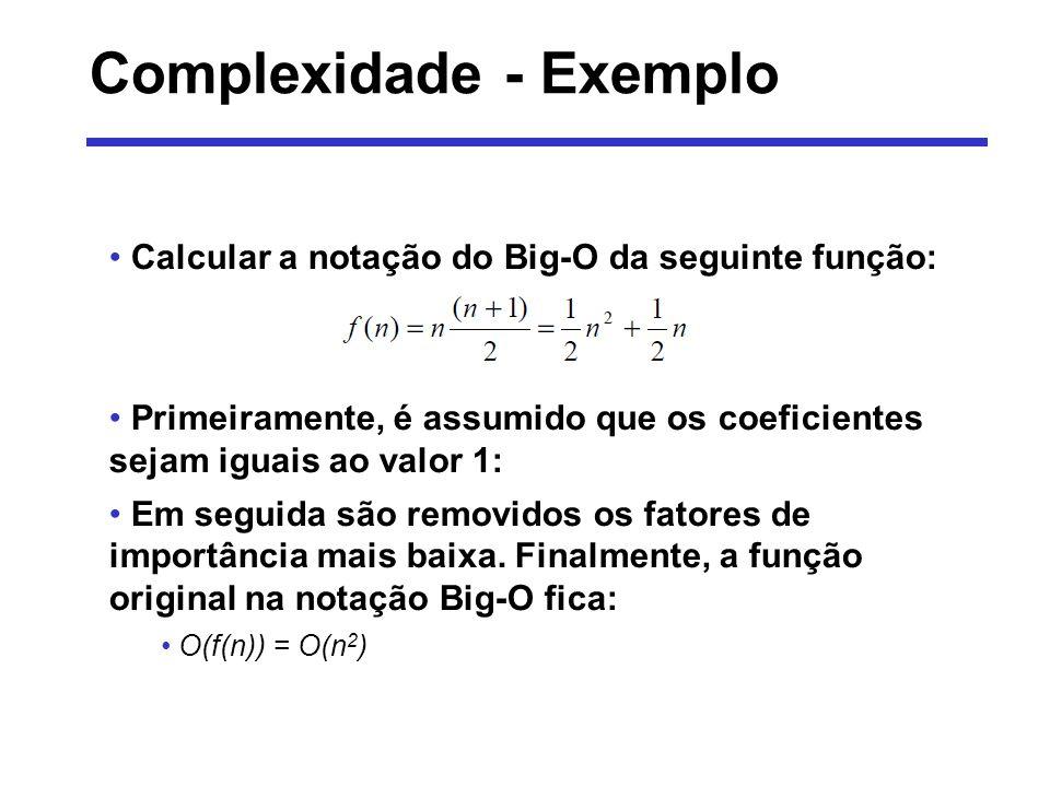 Complexidade - Exemplo