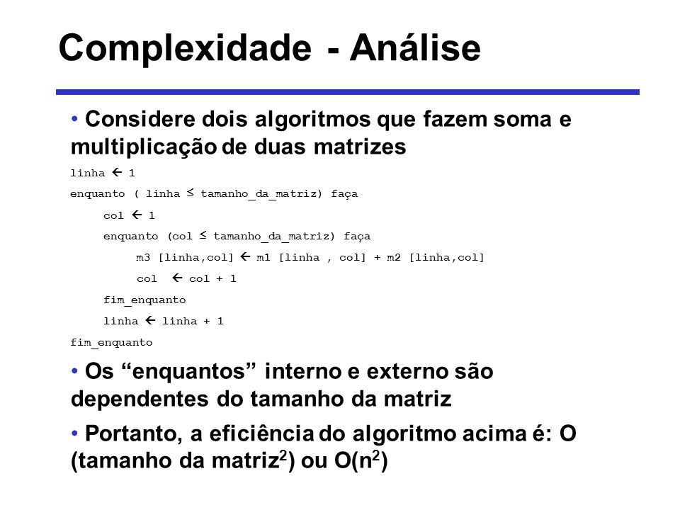 Complexidade - Análise
