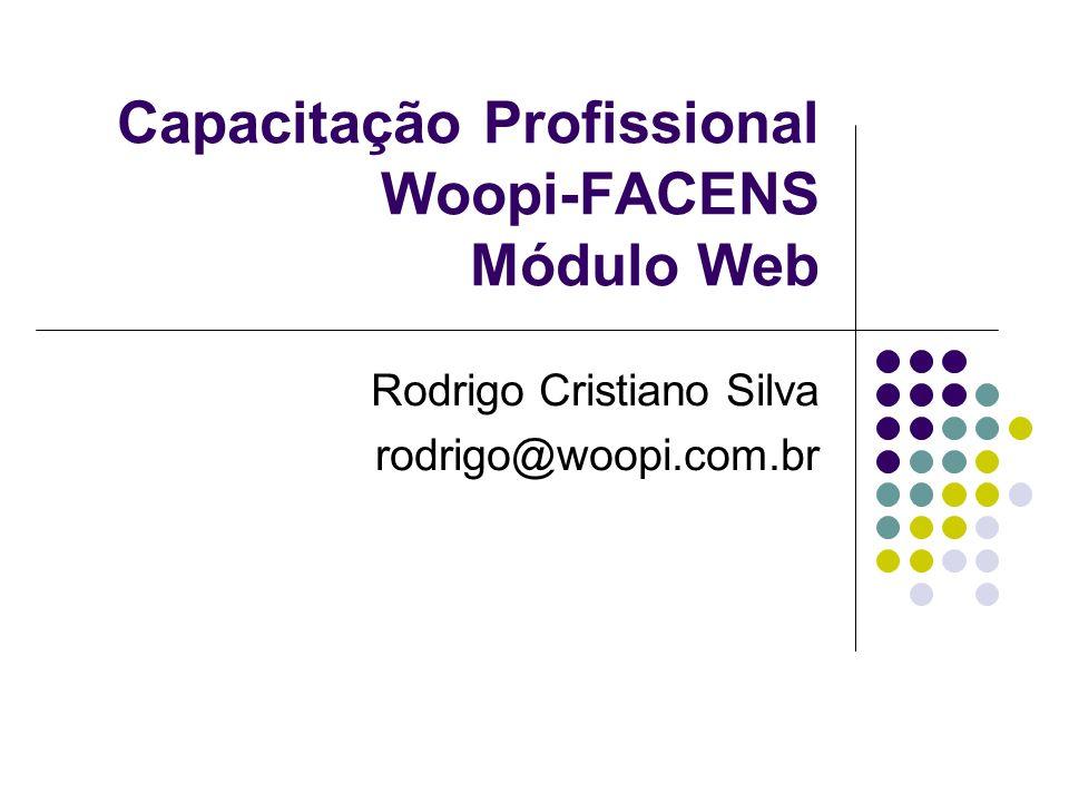Capacitação Profissional Woopi-FACENS Módulo Web