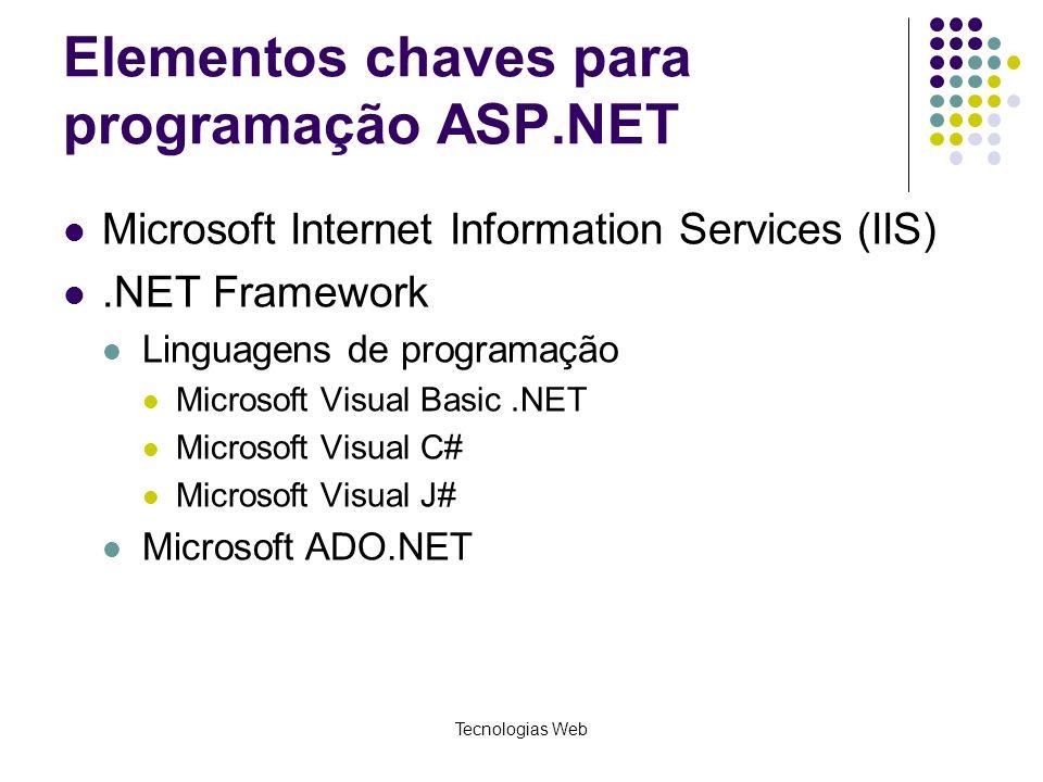 Elementos chaves para programação ASP.NET