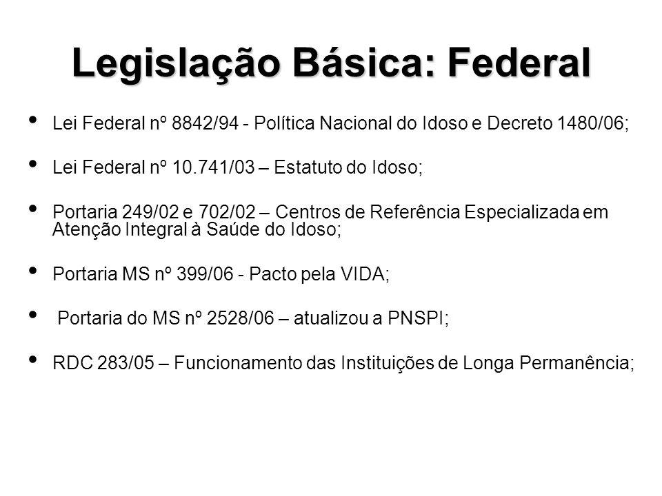 Legislação Básica: Federal