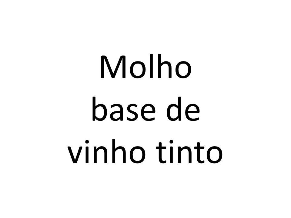 Molho base de vinho tinto