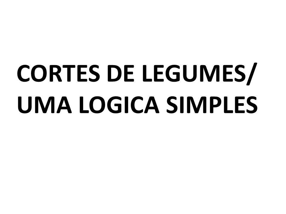 CORTES DE LEGUMES/ UMA LOGICA SIMPLES