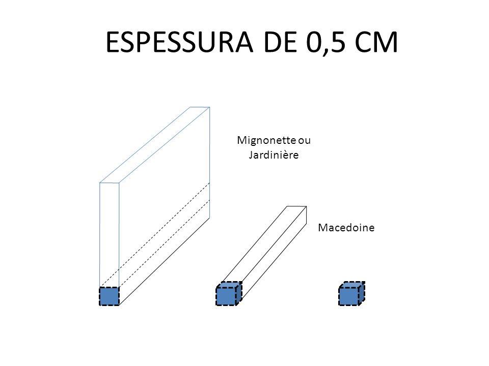 ESPESSURA DE 0,5 CM Mignonette ou Jardinière Macedoine