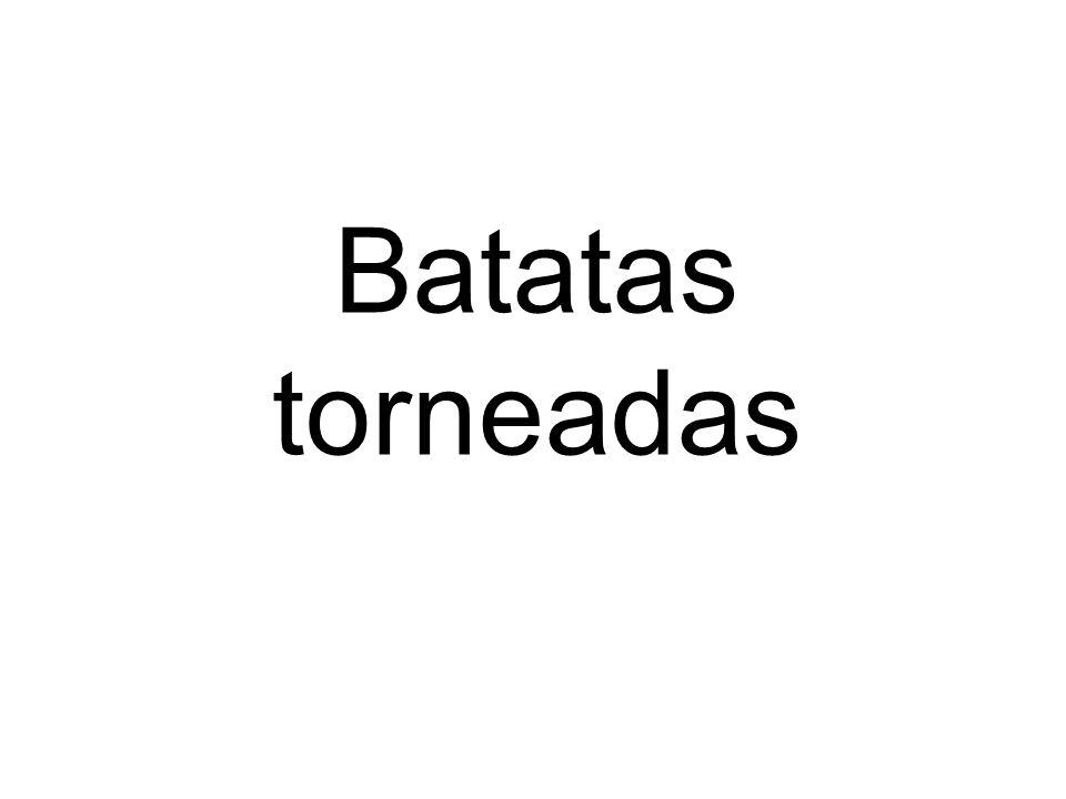 Batatas torneadas