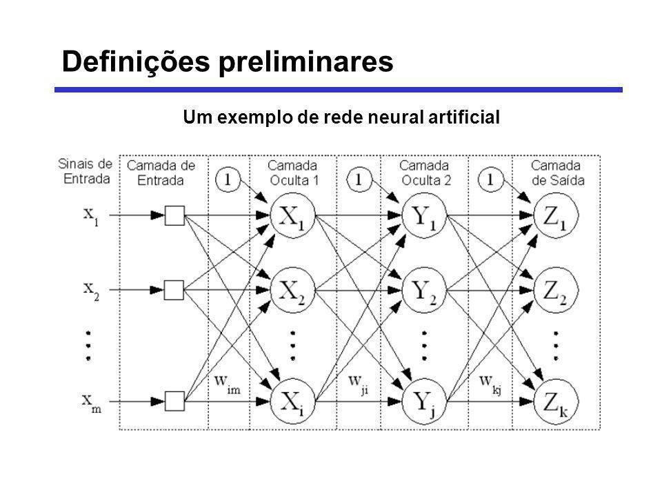 Um exemplo de rede neural artificial