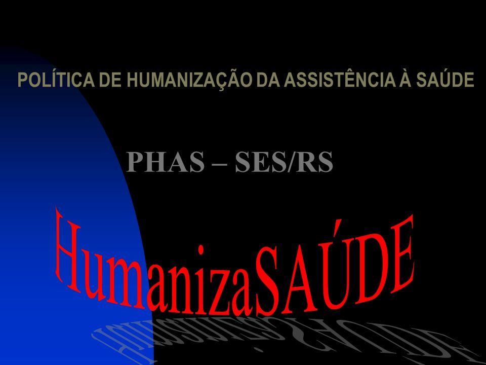POLÍTICA DE HUMANIZAÇÃO DA ASSISTÊNCIA À SAÚDE