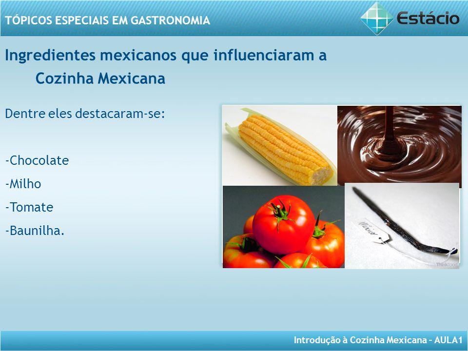 Ingredientes mexicanos que influenciaram a