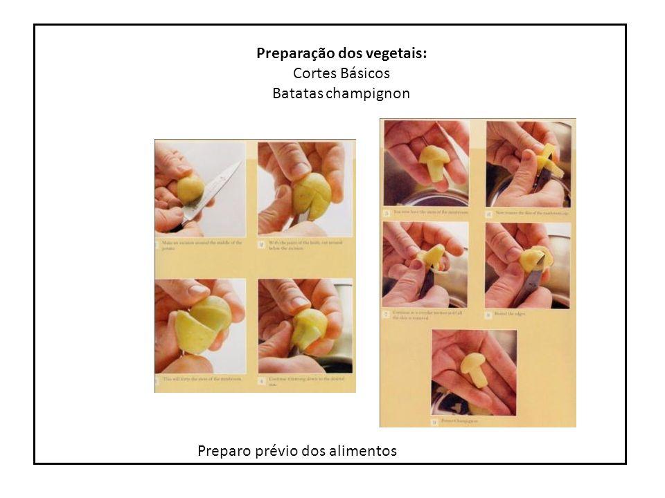 Preparação dos vegetais:
