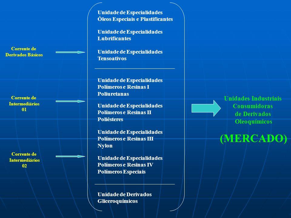 (MERCADO) Unidades Industriais Consumidoras de Derivados Oleoquímicos