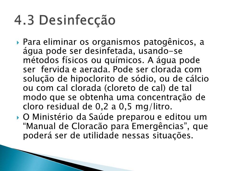 4.3 Desinfecção