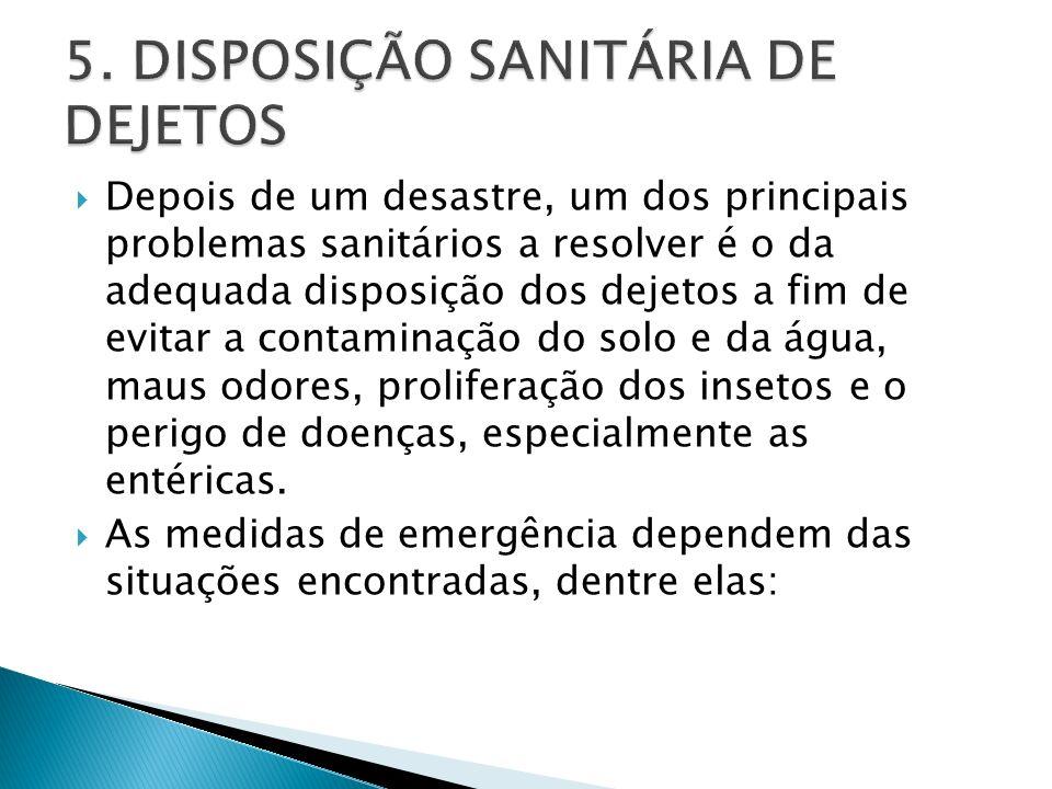 5. DISPOSIÇÃO SANITÁRIA DE DEJETOS