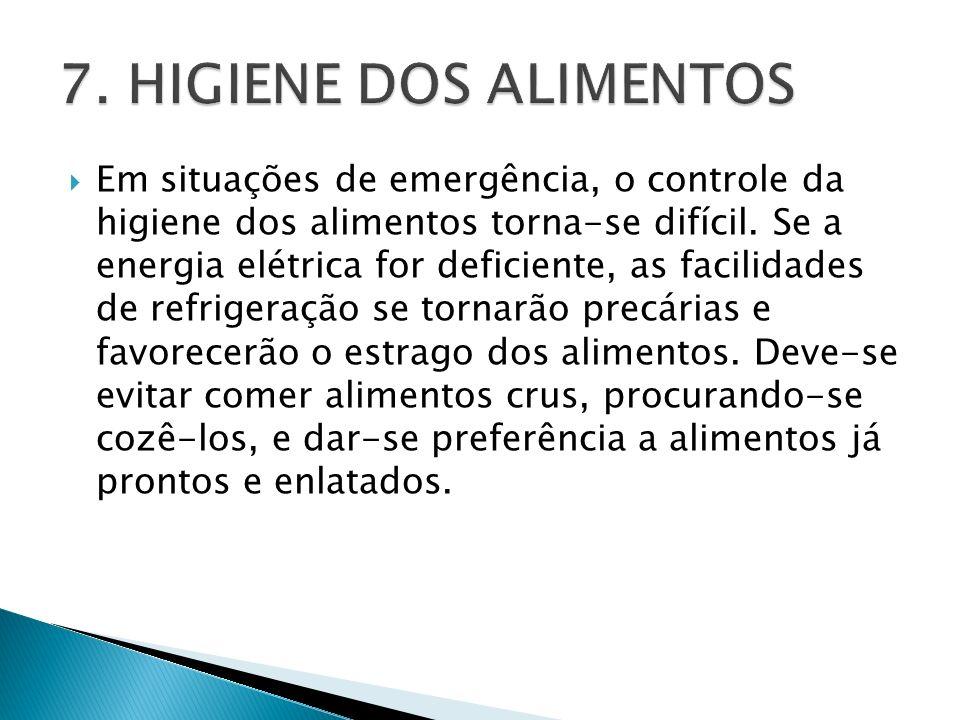 7. HIGIENE DOS ALIMENTOS