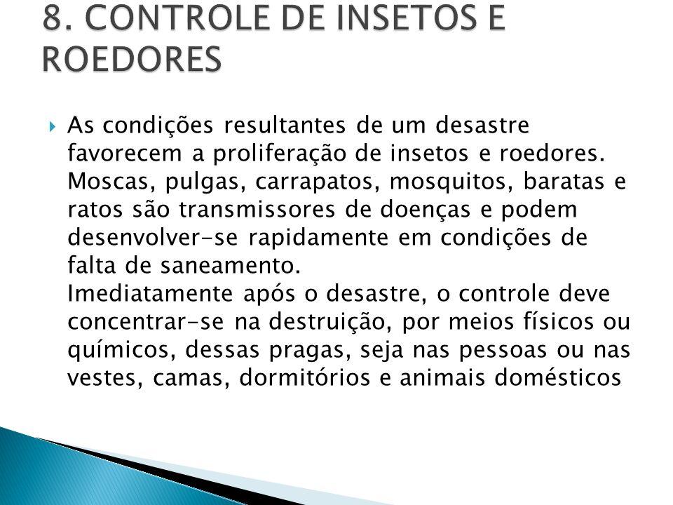 8. CONTROLE DE INSETOS E ROEDORES