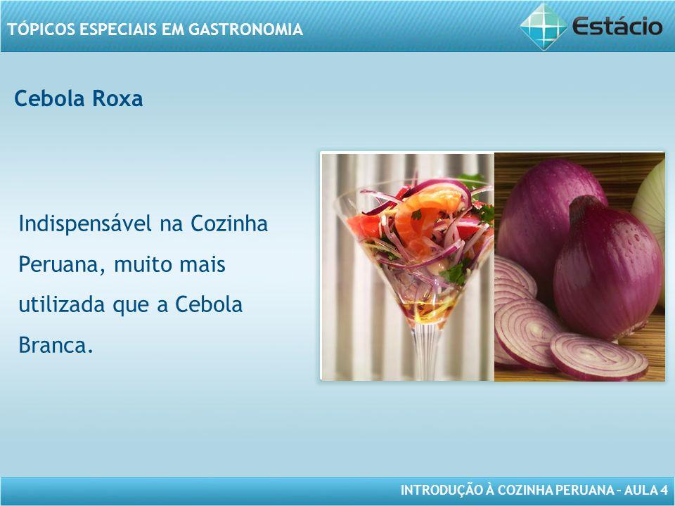 Cebola Roxa Indispensável na Cozinha Peruana, muito mais utilizada que a Cebola Branca.