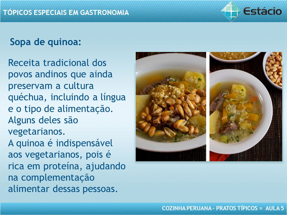 Sopa de quinoa: