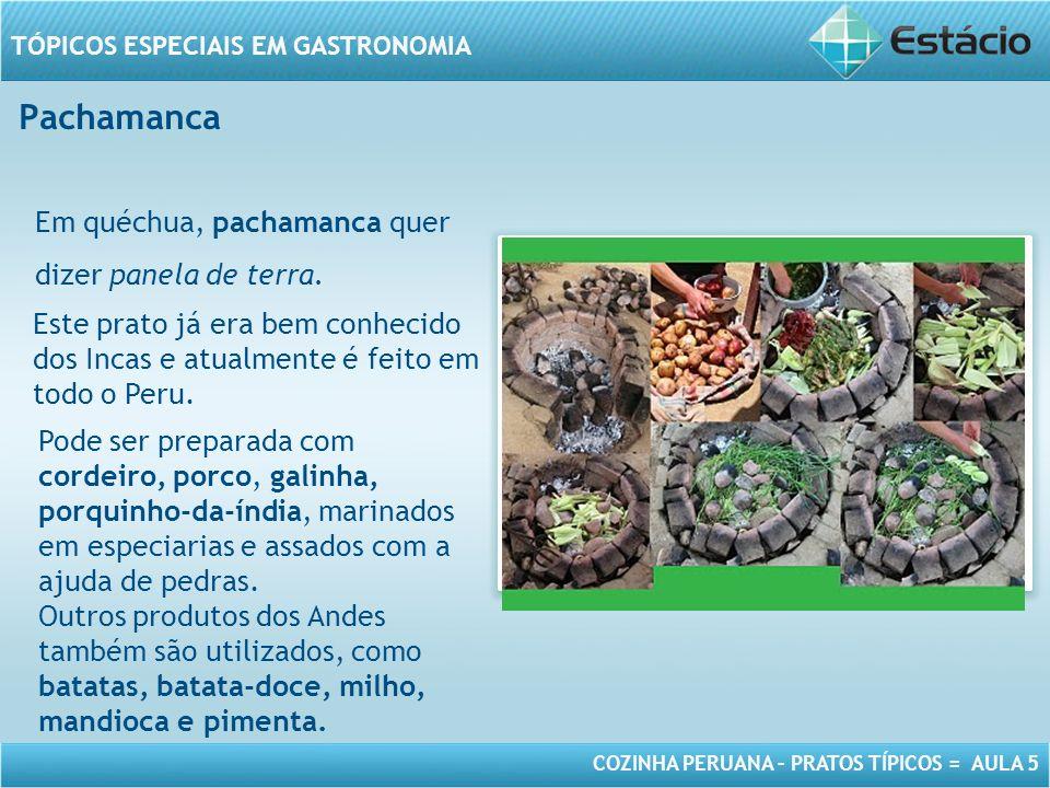 Pachamanca Em quéchua, pachamanca quer dizer panela de terra.