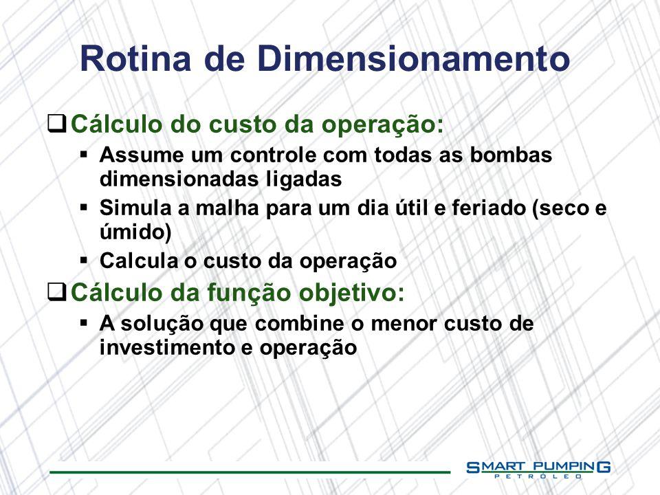 Rotina de Dimensionamento
