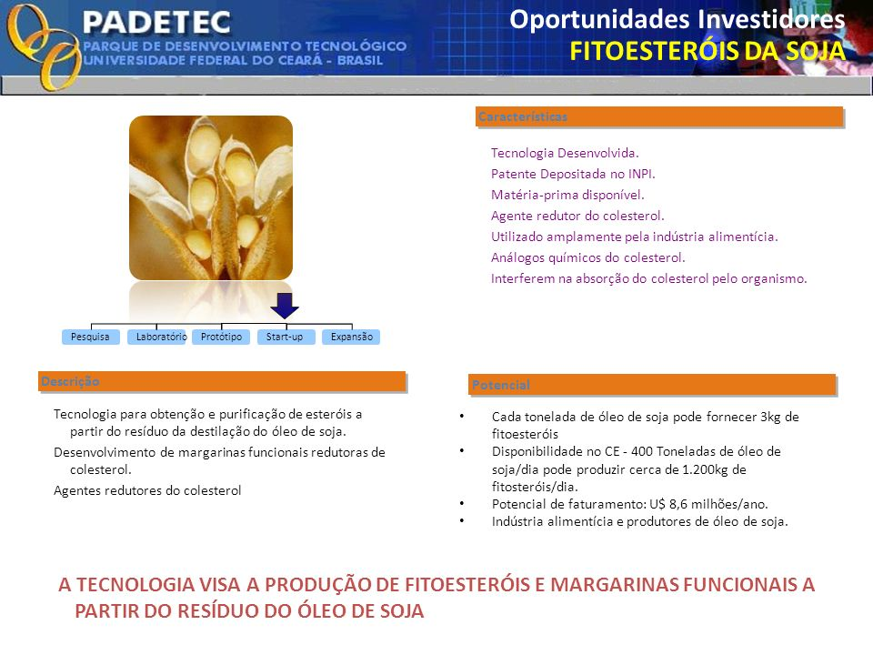 Oportunidades Investidores FITOESTERÓIS DA SOJA