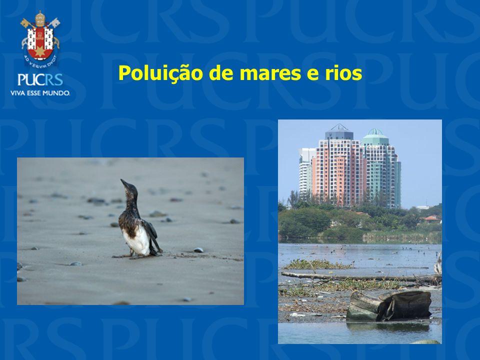 Poluição de mares e rios