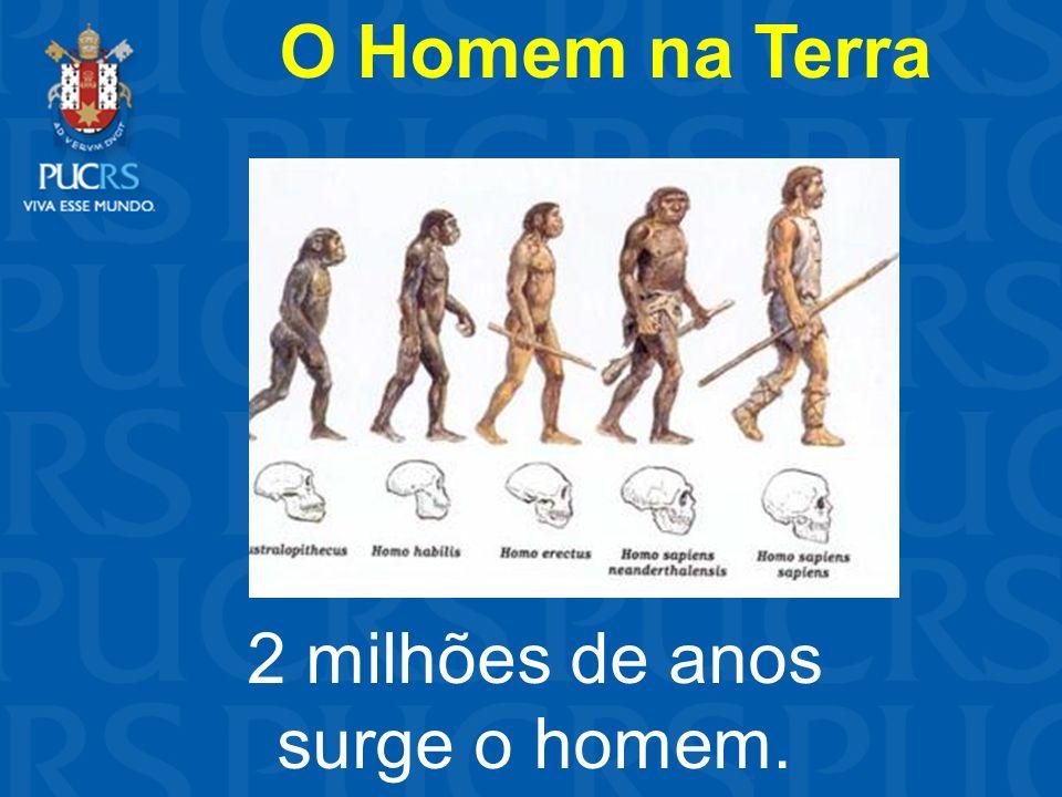 O Homem na Terra 2 milhões de anos surge o homem.