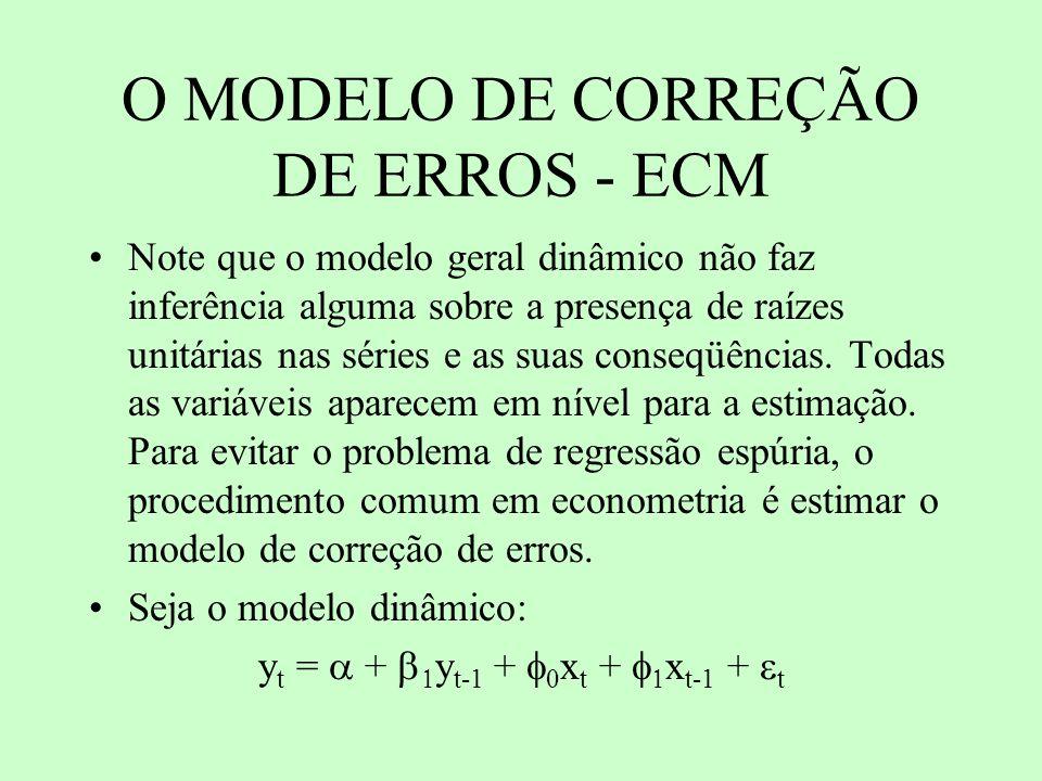 O MODELO DE CORREÇÃO DE ERROS - ECM