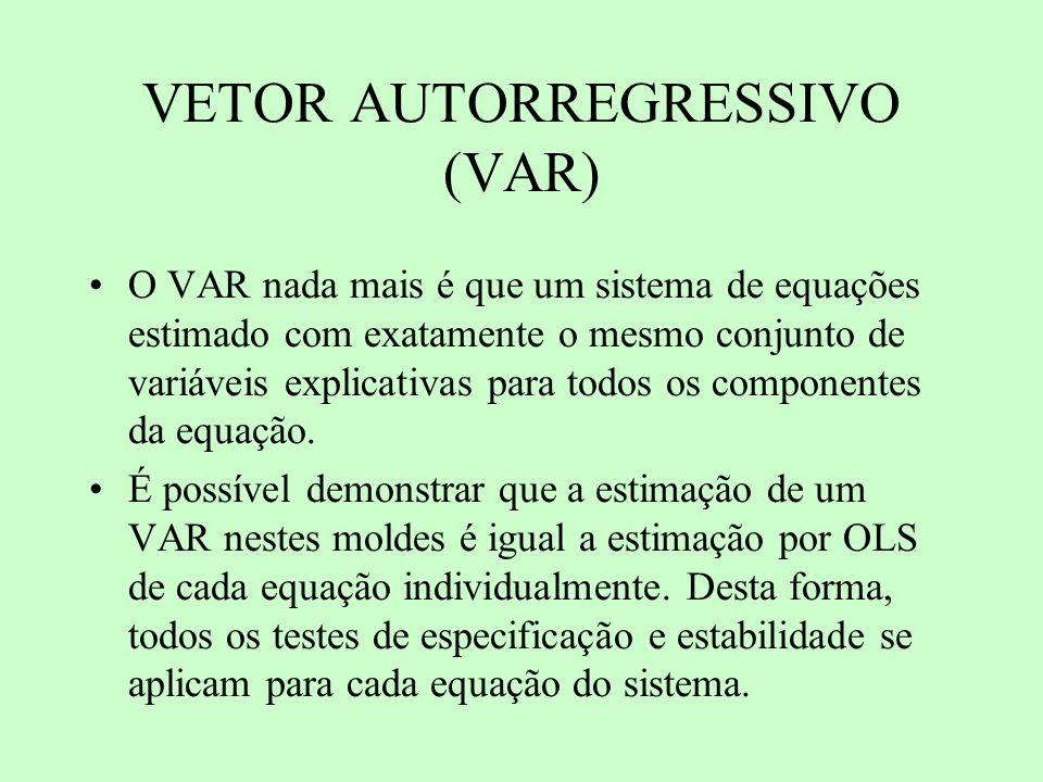 VETOR AUTORREGRESSIVO (VAR)