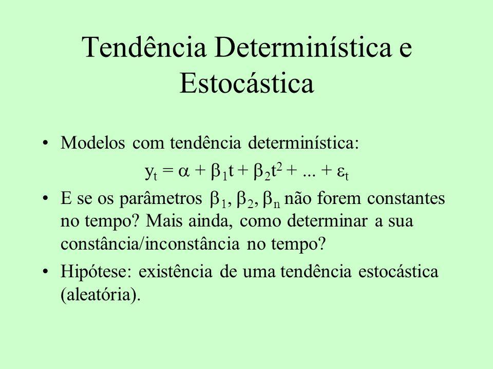 Tendência Determinística e Estocástica