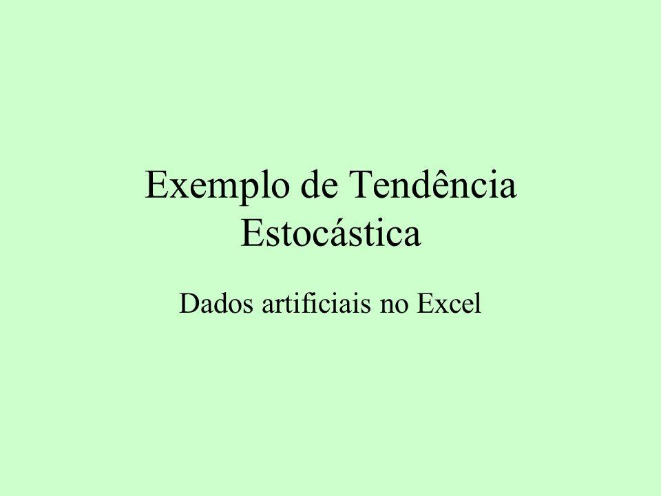 Exemplo de Tendência Estocástica