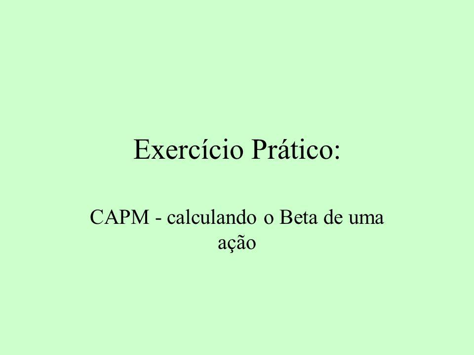 CAPM - calculando o Beta de uma ação