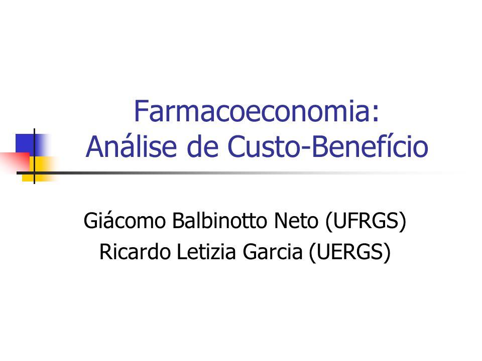 Farmacoeconomia: Análise de Custo-Benefício