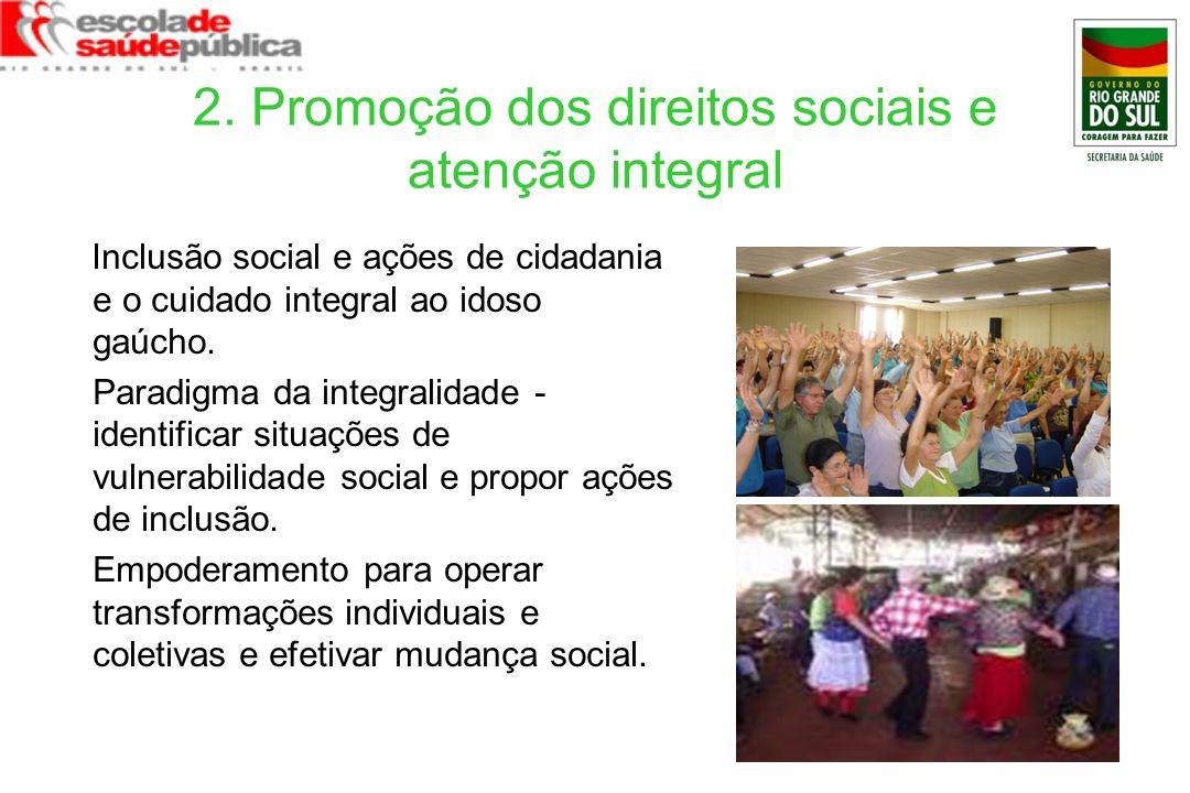 2. Promoção dos direitos sociais e atenção integral
