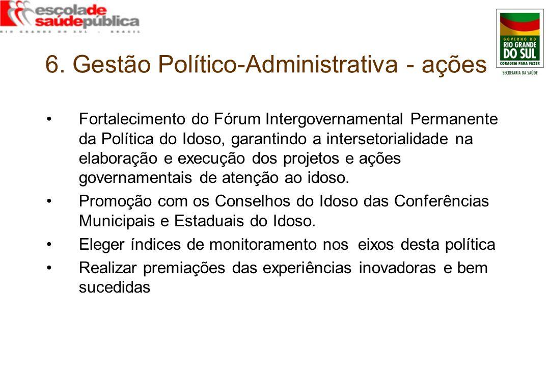 6. Gestão Político-Administrativa - ações