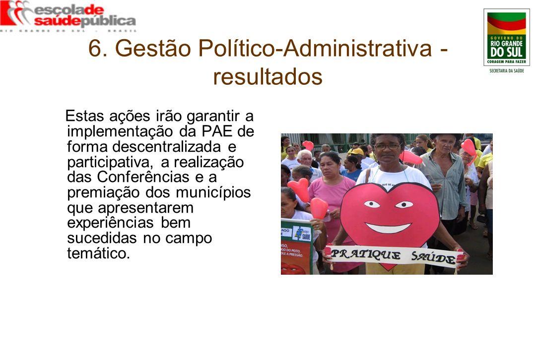 6. Gestão Político-Administrativa - resultados