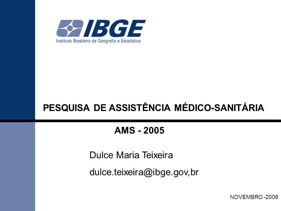 PESQUISA DE ASSISTÊNCIA MÉDICO-SANITÁRIA