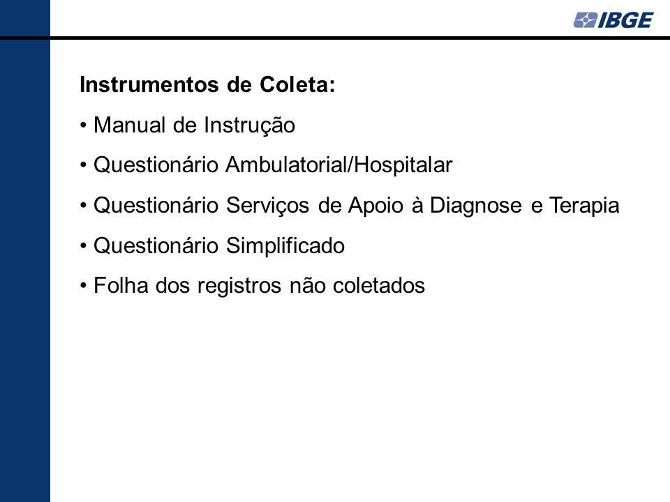 Instrumentos de Coleta: