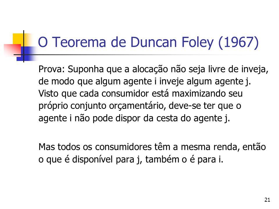 O Teorema de Duncan Foley (1967)