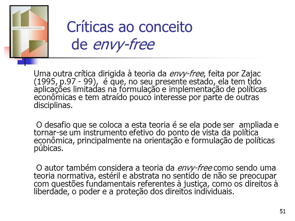Críticas ao conceito de envy-free