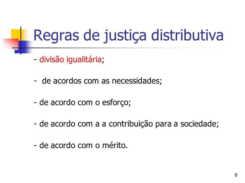 Regras de justiça distributiva