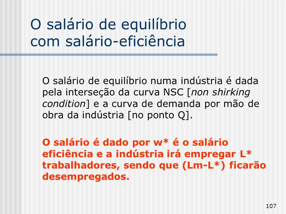 O salário de equilíbrio com salário-eficiência