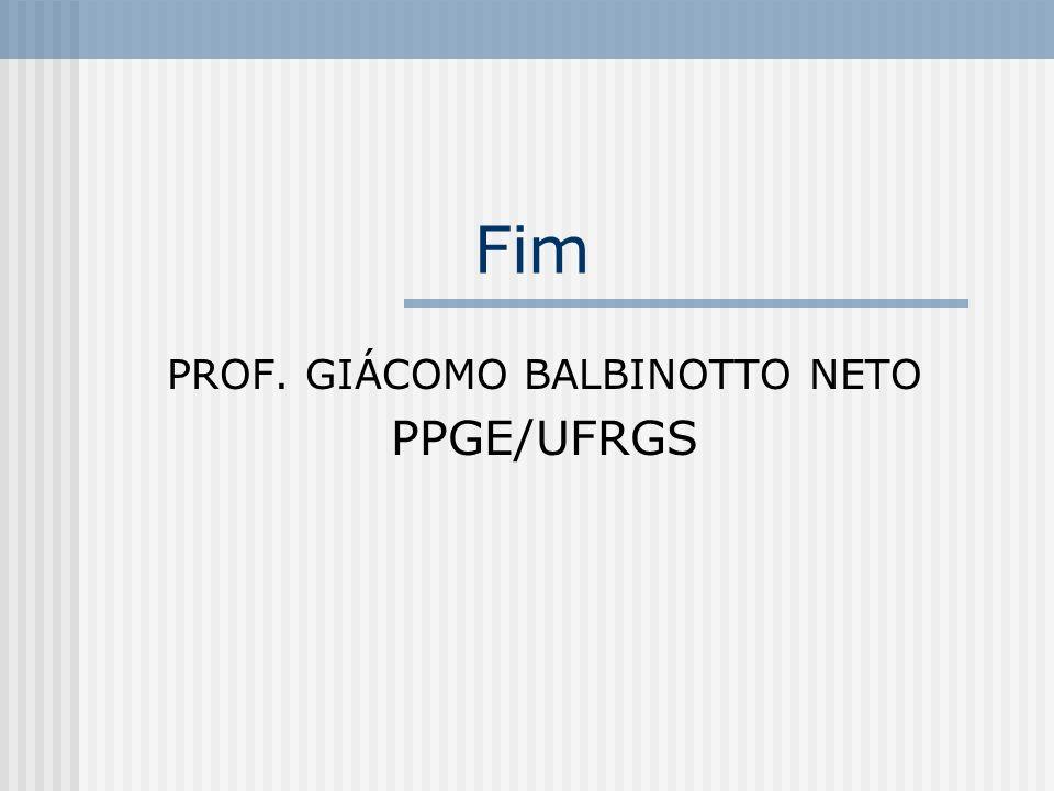 TEORIA MICROECONÔMICA II PROF. GIÁCOMO BALBINOTTO NETO PPGE/UFRGS