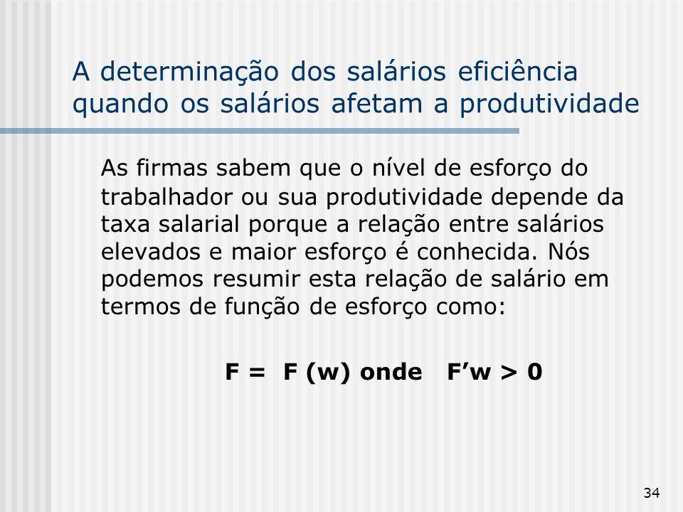 A determinação dos salários eficiência quando os salários afetam a produtividade