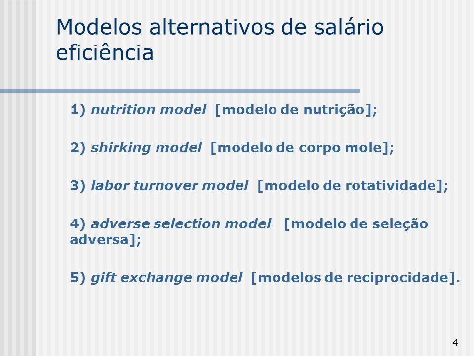 Modelos alternativos de salário eficiência