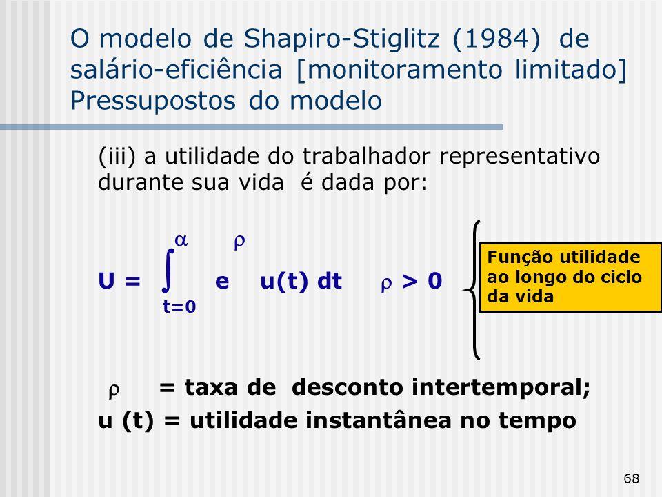  = taxa de desconto intertemporal;