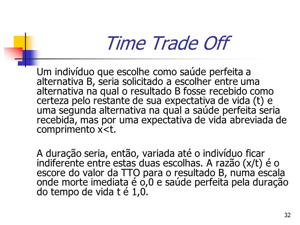 Time Trade Off